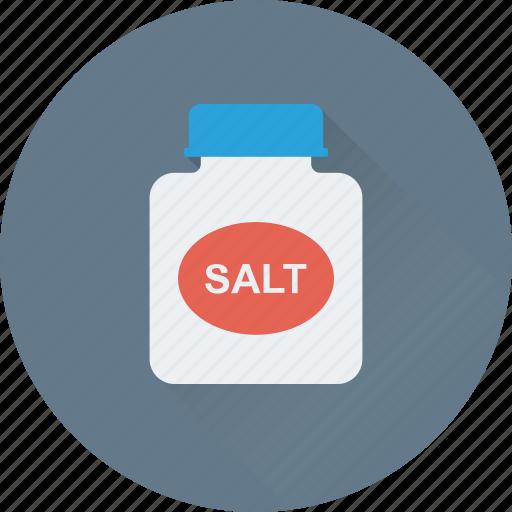 grocery, ingredient, kitchen, salt, salt jar icon