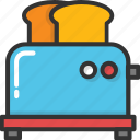 electronics, kitchen appliance, toast, toast machine, toaster icon