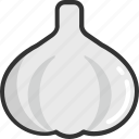 allium sativum, food, garlic, garlic bulb, spice, vegetable icon