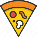 fast food, italian food, junk food, meal, pizza icon