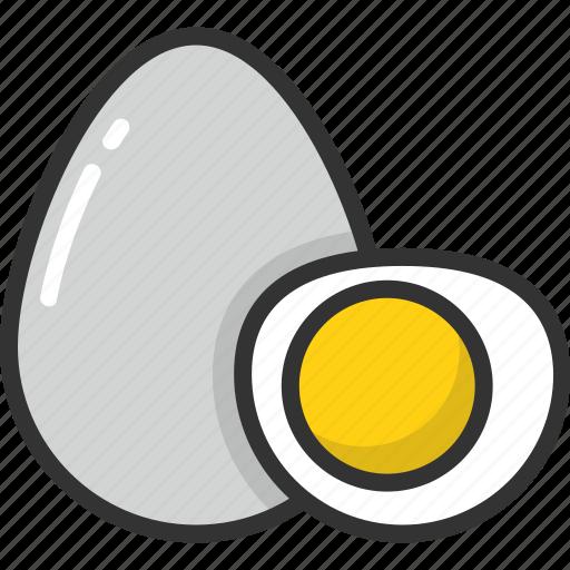 boiled, breakfast, egg, food, healthy icon