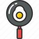 breakfast, cooking, egg, frying pan, kitchen icon