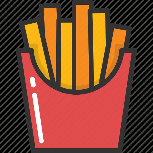 french fries, fries, fries box, frites, potato fries icon