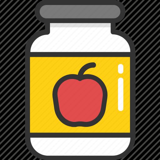 apple jam, food, jam jar, jar, marmalade icon