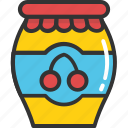 breakfast, food, jam jar, jar, marmalade icon