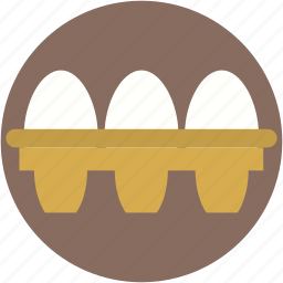 breakfast, eggs, eggs box, eggs tray, food icon