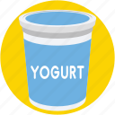 dairy, food, milk, yogurt, yogurt cup icon