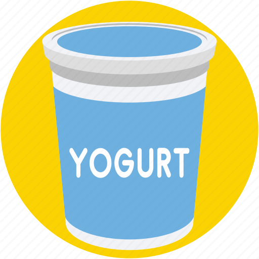 dairy, food, milk, yogurt, yogurt cup icon