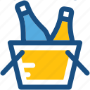 bucket cooler, champagne bucket, wine bottle, wine bucket, wine cooler icon