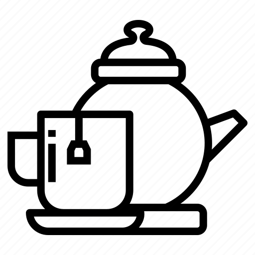 beverage, cup of tea, refreshment, tea, tea and kettle, teacup icon