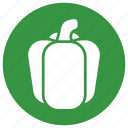 bell, green, green bell pepper, nature, pepper icon