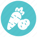 and, carrot, food, meal, potato, vegetable icon