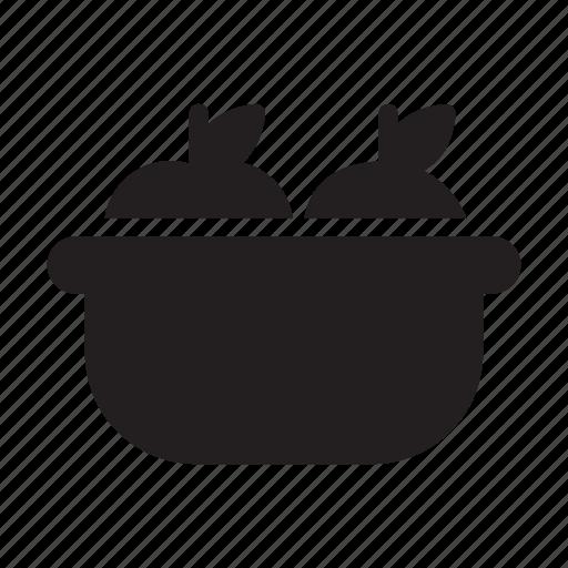 apple, basket, bowl, food, orange icon