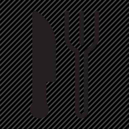 fork, kitchen, knife, restaurant, utensils icon