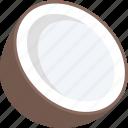 coconut, food, healthy food, nut, tropical fruit icon
