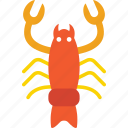 diet, food, lobster, nephropidae, seafood icon