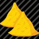 corn chips, food, guacamole, tortilla chips, totopos icon