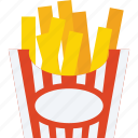 french fries, french fries box, fries, fries box icon