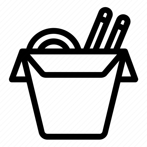 Chinese food, food box, noodle box, take out box, wok icon - Download on Iconfinder