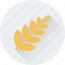 food, grain, rye, wheat, wheat ear icon