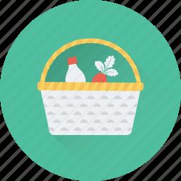basket, food, fruit, grocery, supermarket icon