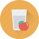 apple, apple juice, drink, glass, juice icon