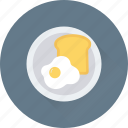 breakfast, egg, food, plate, toast icon