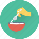 bowl, cooking, kitchen, seasoning, spoon icon