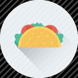 fast food, food, roll, shawarma, tacos, tortilla icon