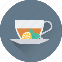 cup, green tea, herbal tea, saucer, tea icon