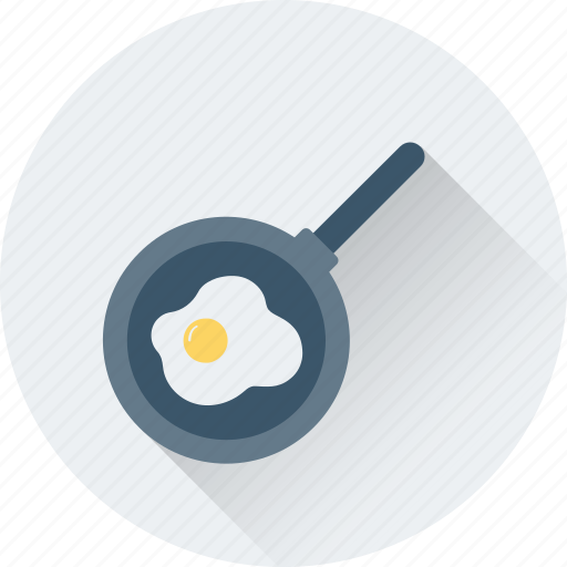 cooking, egg, food, frying pan, meal icon