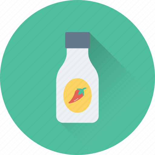 bottle, chili, chili pepper, grocery, spice icon