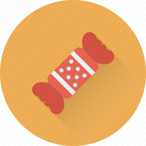 candy, confectionery, sweet, toffee, wrapped icon