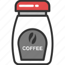 beans, cappuccino, coffee, coffee jar, grains icon