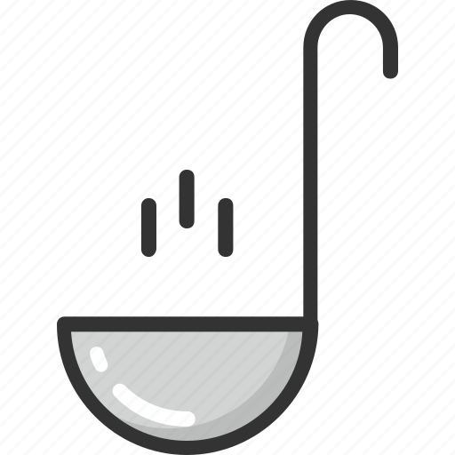 cutlery, ladle, scoop, soup ladle, spoon icon