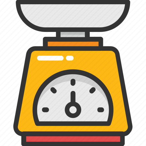 food scale, kitchen scale, measuring, scale, weighing icon