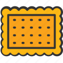 bakery, biscuit, cookie, food, snack icon