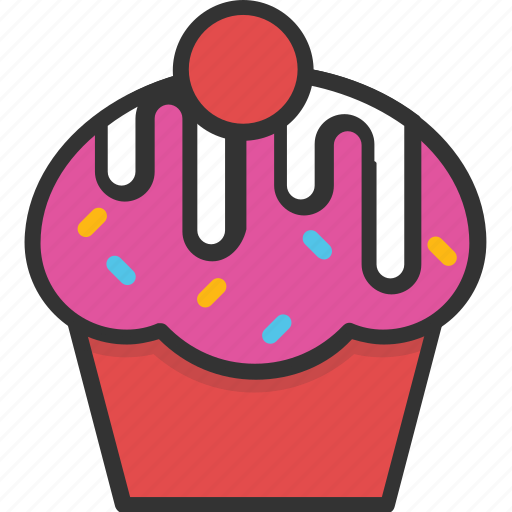 bakery, cupcake, dessert, food, muffin icon