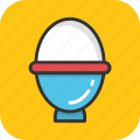 boiled egg, breakfast, egg, egg cup, egg server icon