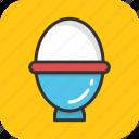 boiled egg, breakfast, egg, egg cup, egg server icon