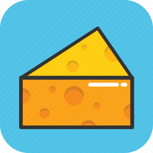 cheese, cheese piece, dairy, food, parmesan icon