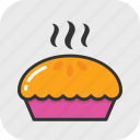apple pie, bakery, food, hot food, pie icon