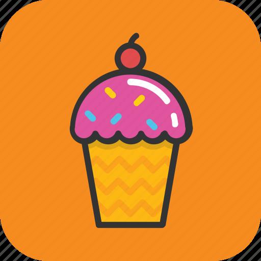 dessert, frozen food, ice cone, ice cream, snow cone icon