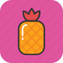 ananas, fruit, healthy eating, organic food, pineapple icon