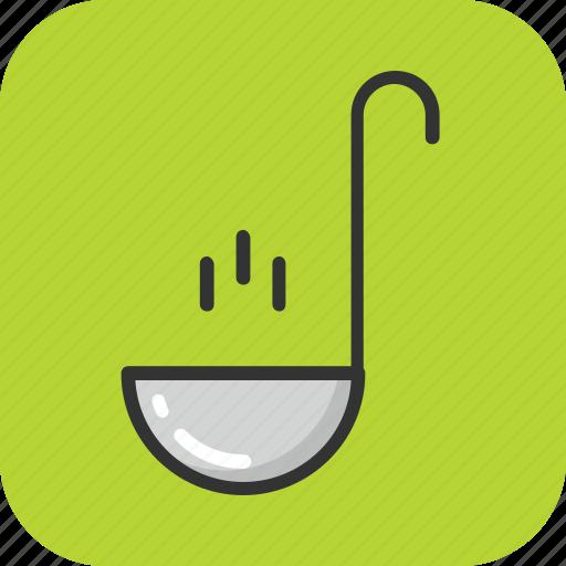 cutlery, ladle, scoop, soup ladle, spoon icon