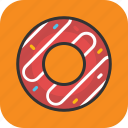 bakery food, confectionery, donut, doughnut, sweet icon
