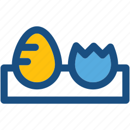 breakfast, eggs, eggs box, eggs tray, food icon