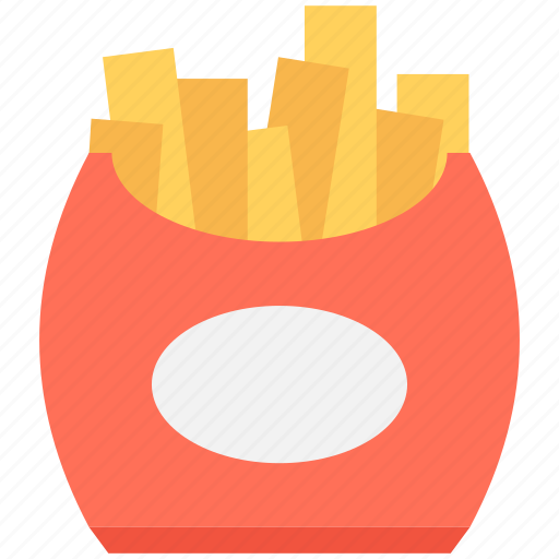 fast food, french fries, fries box, frites, potato fries icon