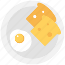 bread slice, breakfast, food, fry egg, toast icon