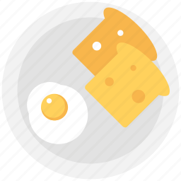 bread slice, breakfast, food, fry egg, toast icon